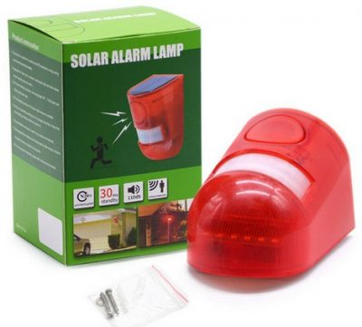 Wind and Sun PIR Remote Alarm